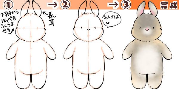 ウサギの描き方の図