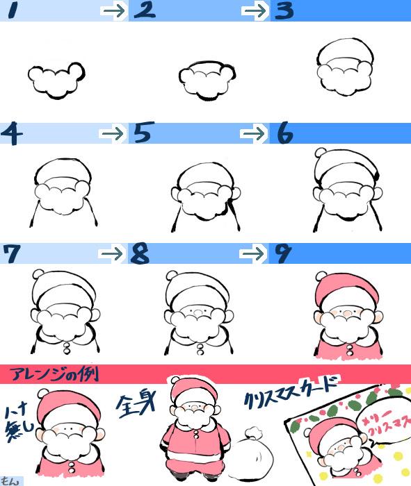 サンタさんの詳しい描き方